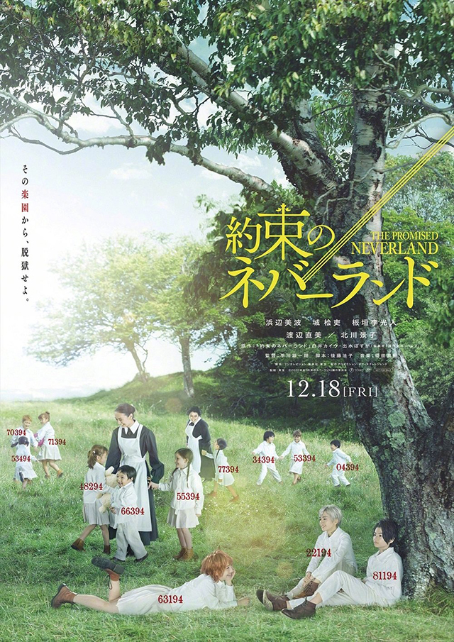 「约定的梦幻岛」漫改真人版海报公开 12月18日上映