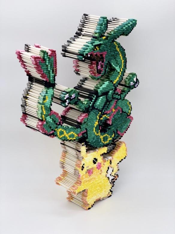 日本手工大神用棉棒制作漫画人物 像素风立体感十足