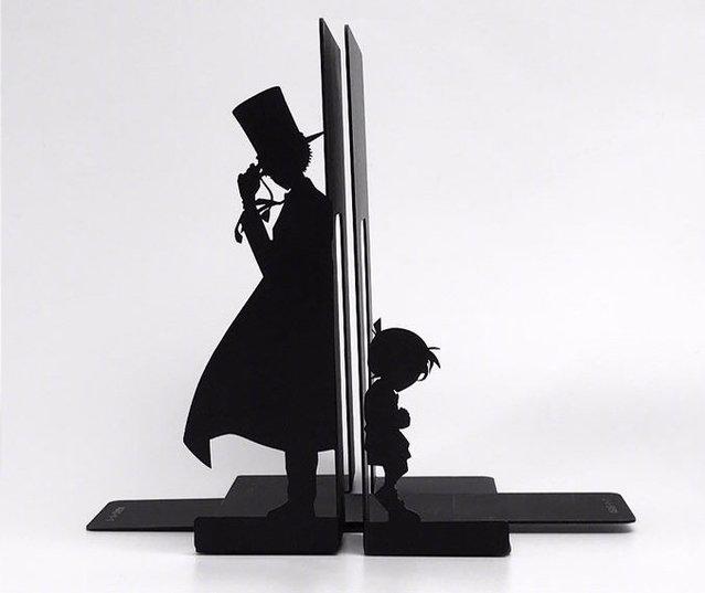 「名侦探柯南」新周边:金属制角色轮廓书挡