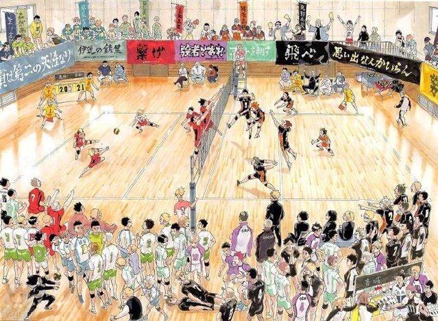 「排球少年!!」2021年漫画日历预览图公开