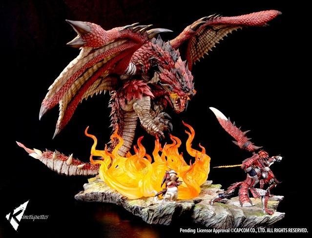 「怪物猎人」雄火龙&猎人&艾露猫组合1/10雕像公布