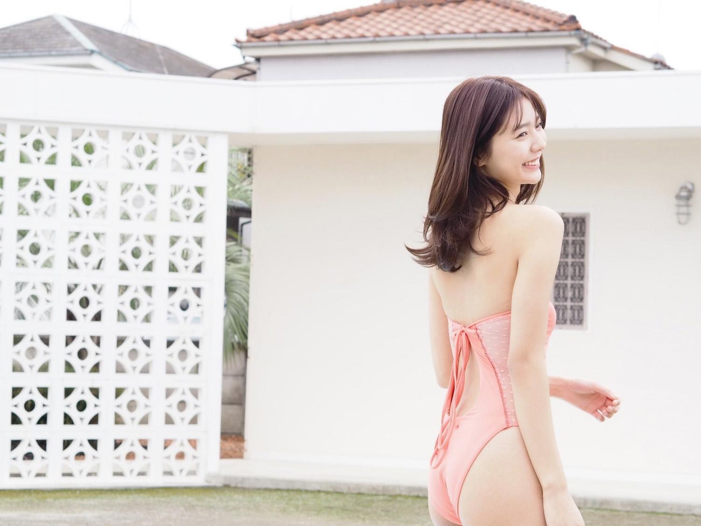 9头身极品樱花妹「川津明日香」甜萌灿笑青春洋溢 夏日泳装照「微露奶沟」健康又性感