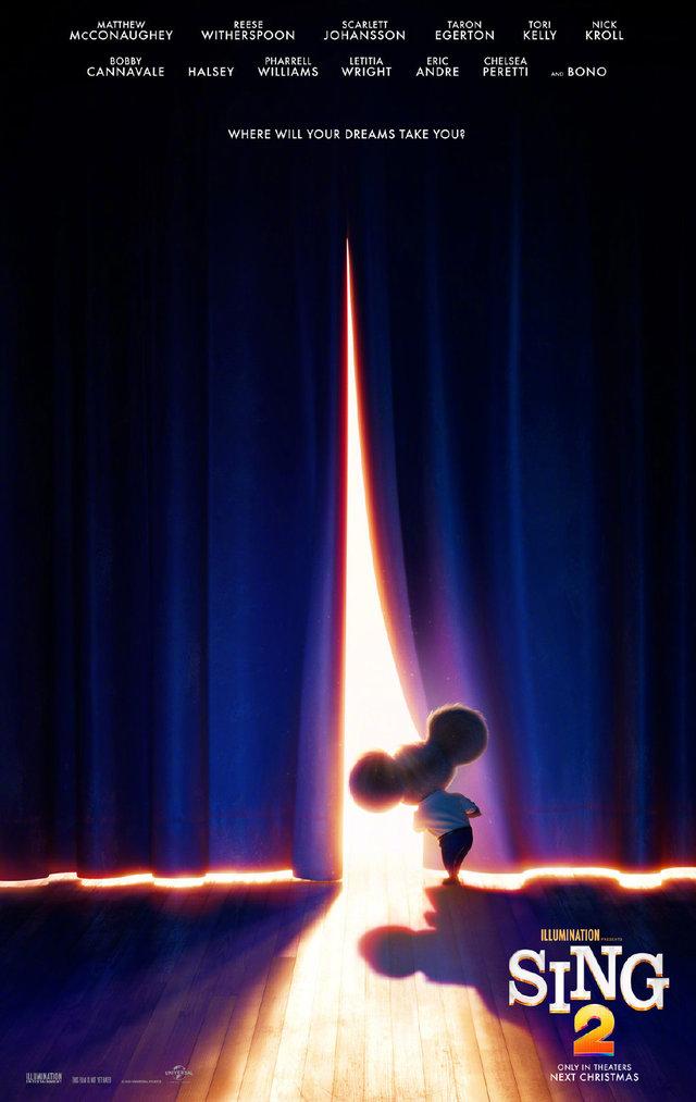 动画电影「欢乐好声音2」发布预告海报