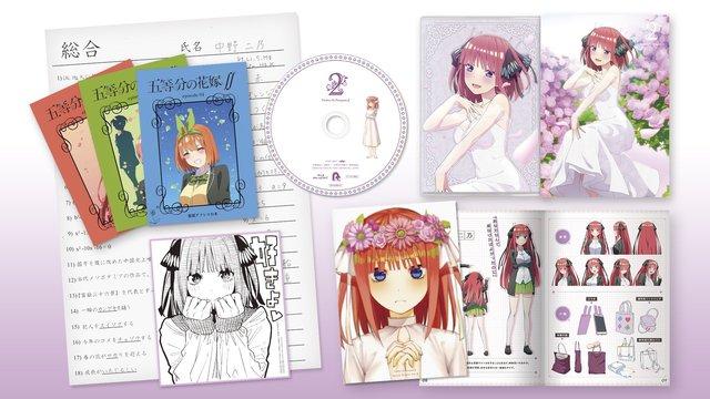 动画「五等分的新娘∬」蓝光DVD第三卷封面图公开