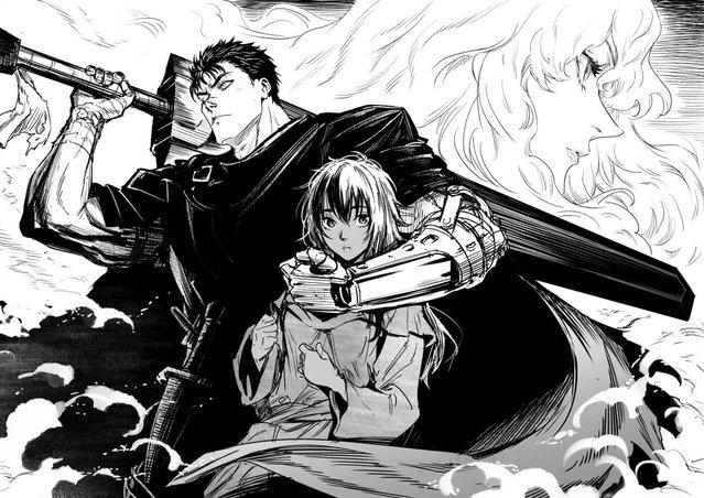佐伯俊公布了悼念「剑风传奇」作者纪念图