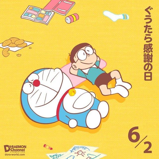 「哆啦A梦」懒惰感谢日绘图公开