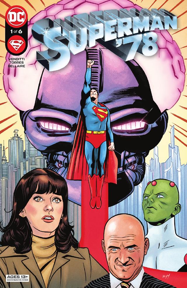 DC漫画公开里夫超人纪念刊第一期正式封面