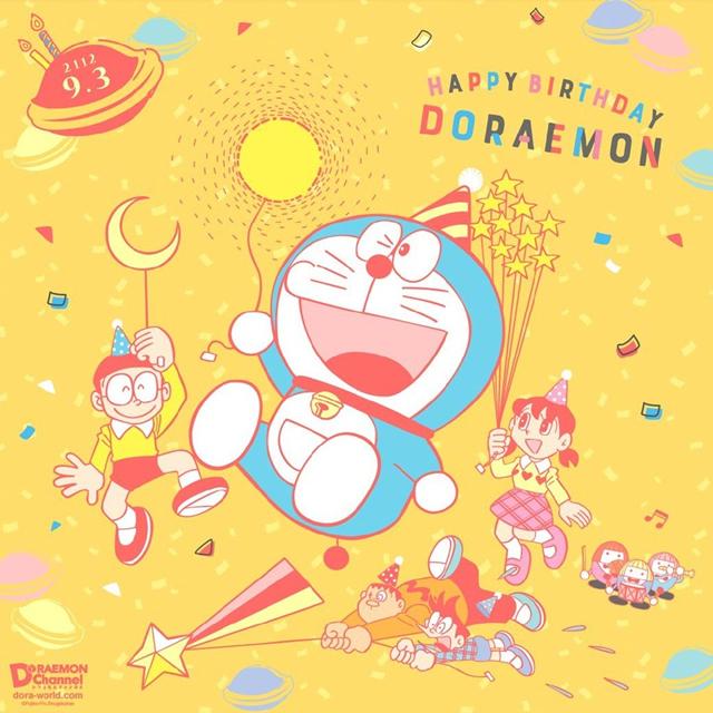 「哆啦A梦」官方发布生日贺图