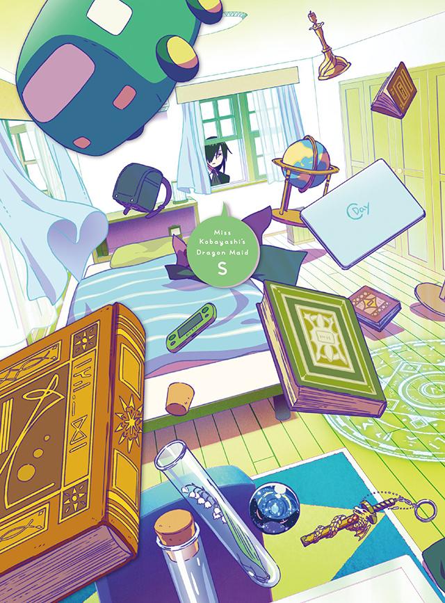 动画「小林家的龙女仆S」Blu-ray&DVD第四卷封面插画公开