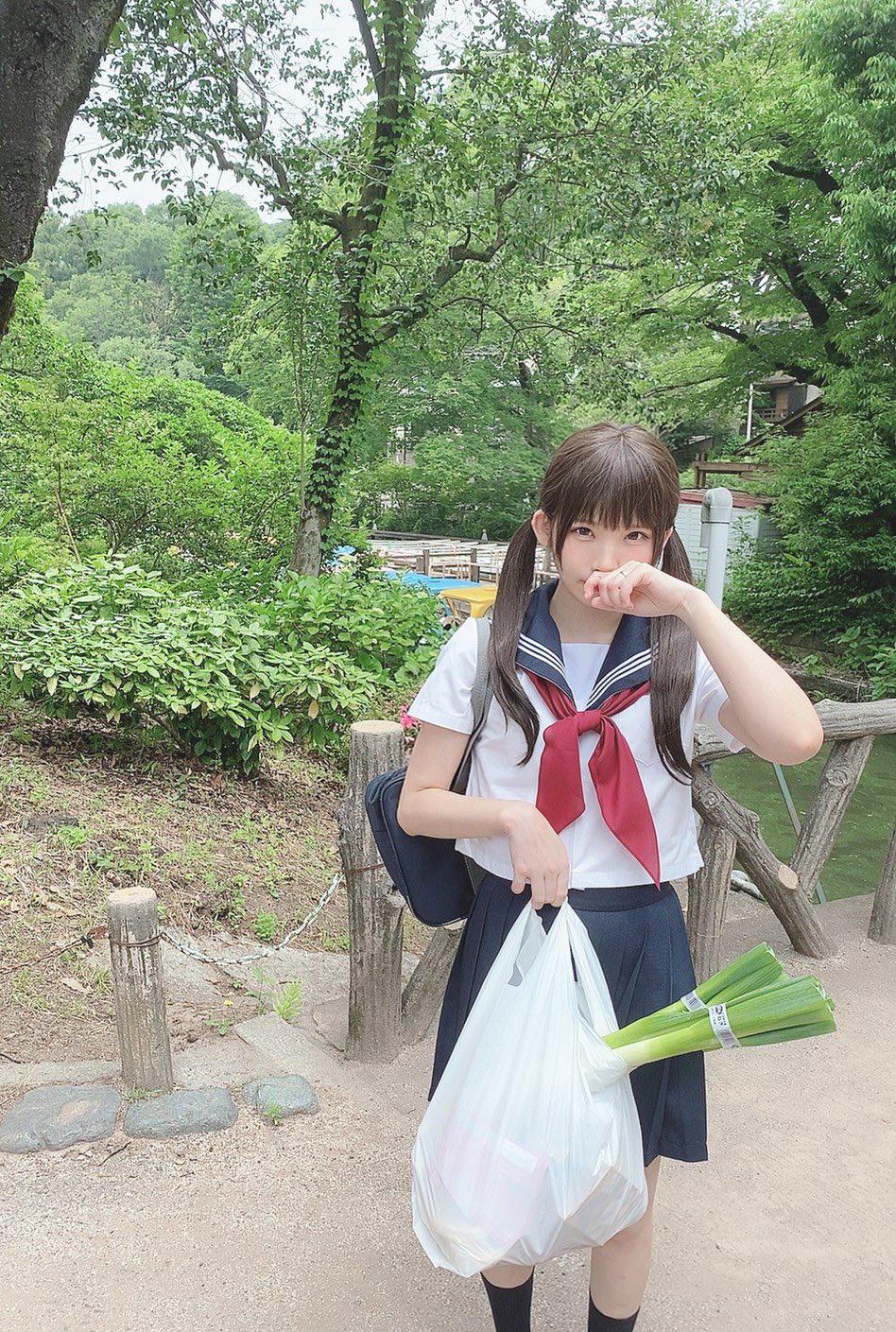 JK双马尾《女高中生Enako是我老婆》止不住的妄想这不就是梦寐以求的另一伴吗