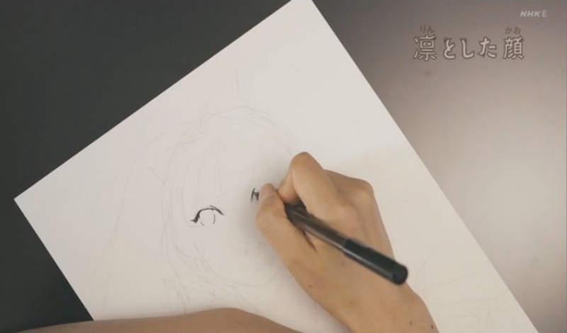 《漫画家大暮维人现况曝光》上NHK教育台表演美少女作画 网友大赞这就是英才教育