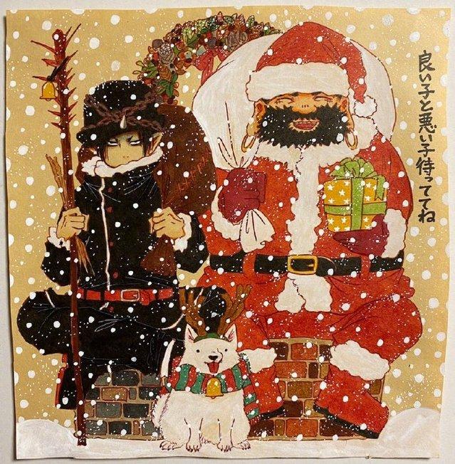 「鬼灯的冷彻」作者圣诞新绘公开