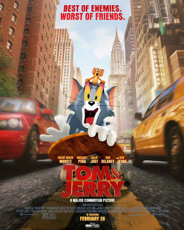 真人动画电影「猫和老鼠」公开最新海报
