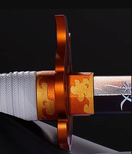 「鬼灭之刃」杏寿郎日轮刀全比例模型公开