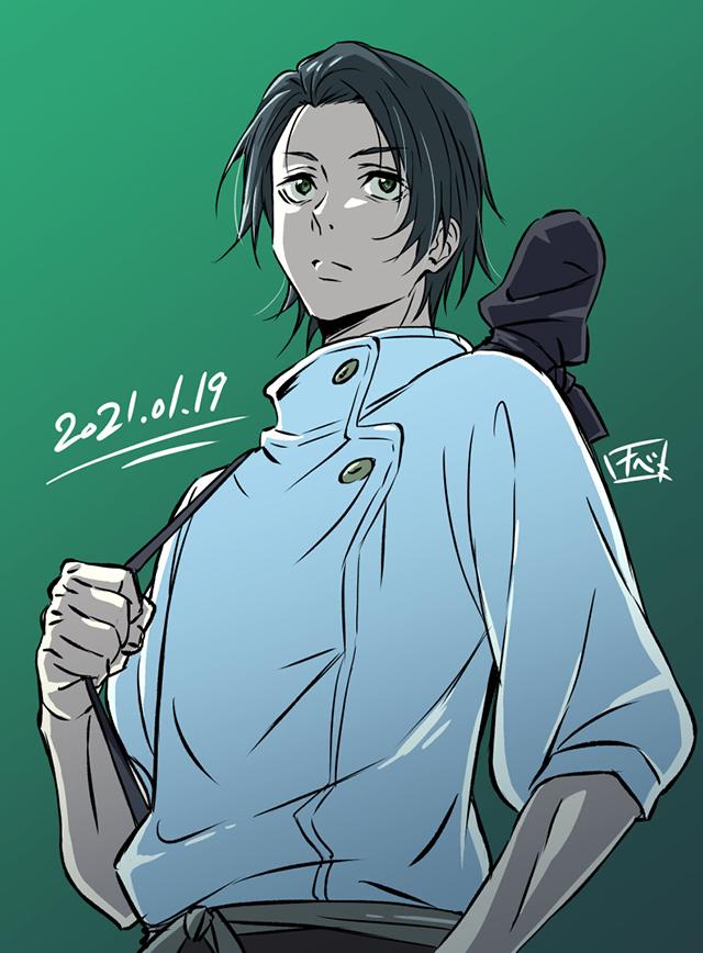 渡边敬介公布为「咒术回战」前传男主角乙骨忧太绘制的画像