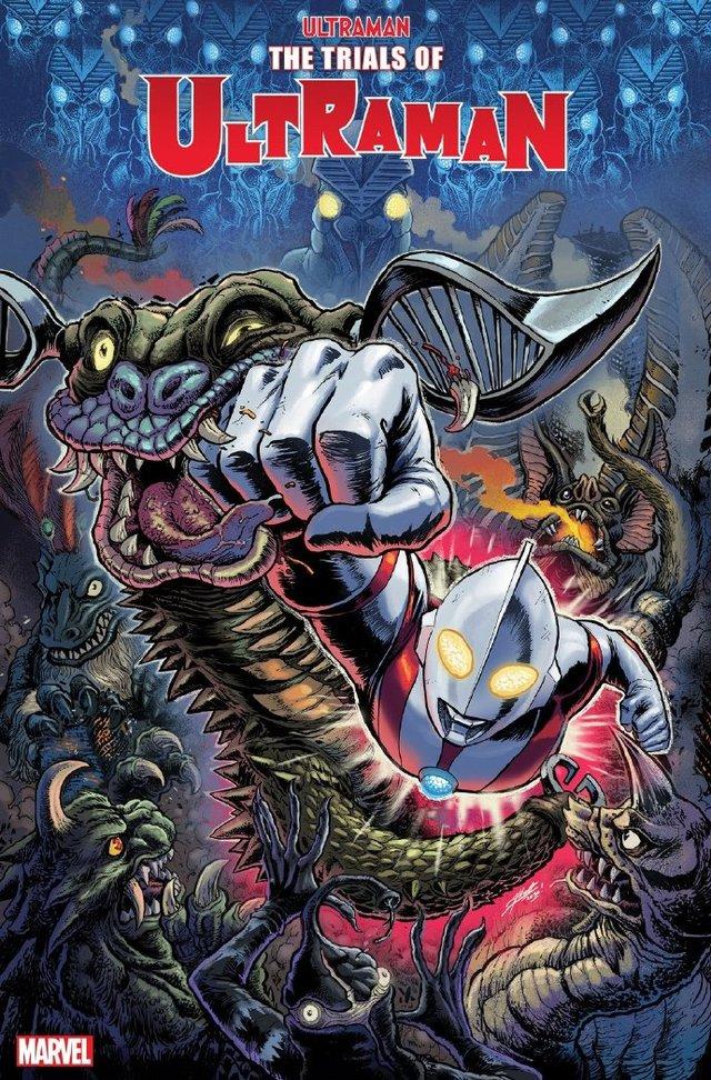 漫威圆谷联合漫画「奥特曼的试炼 第1卷」公开变体封面