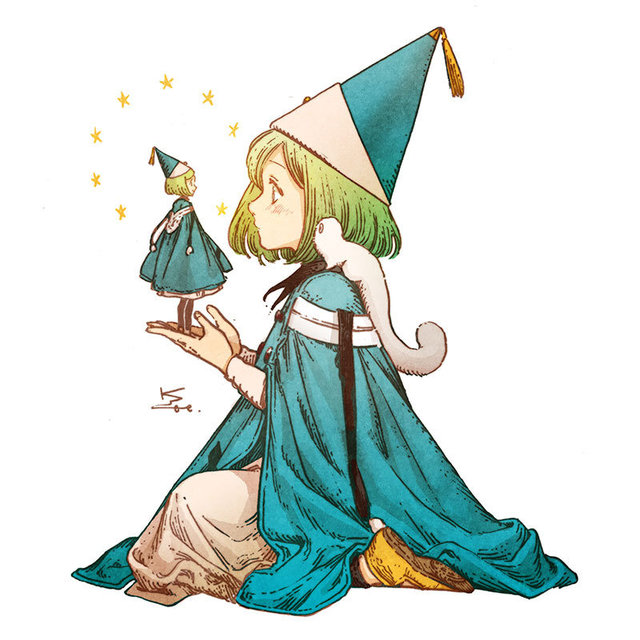 漫画「尖帽子的魔法工房」最新彩图公开