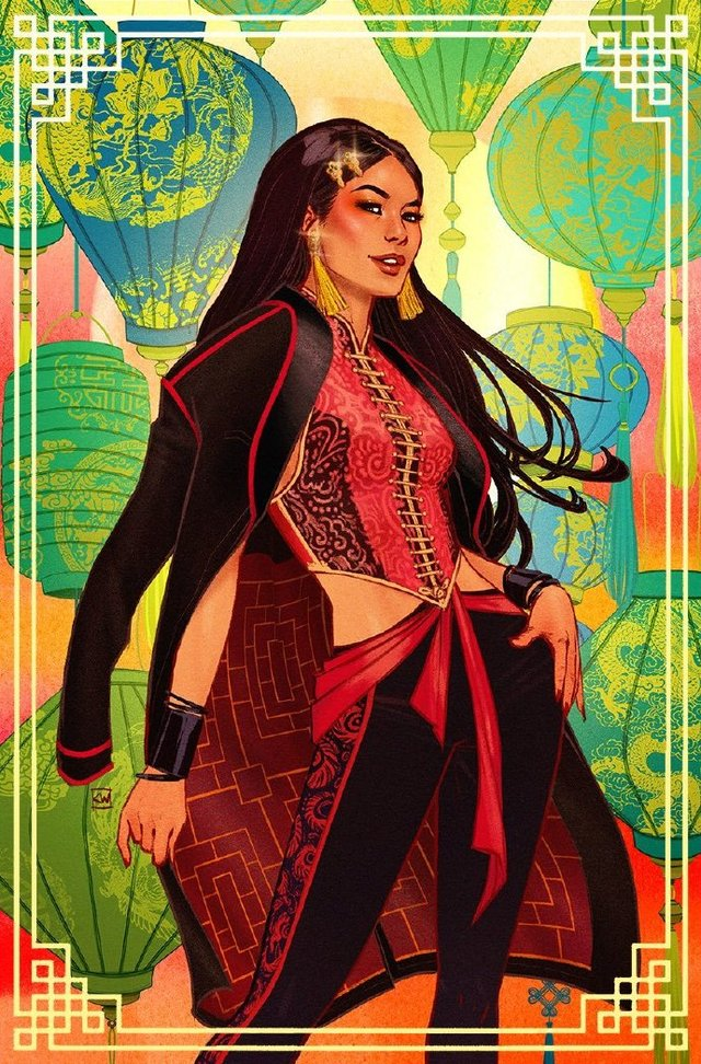 亚裔画师绘制「DC英雄节:庆祝亚洲超级英雄」亚裔女刺客肖像公开
