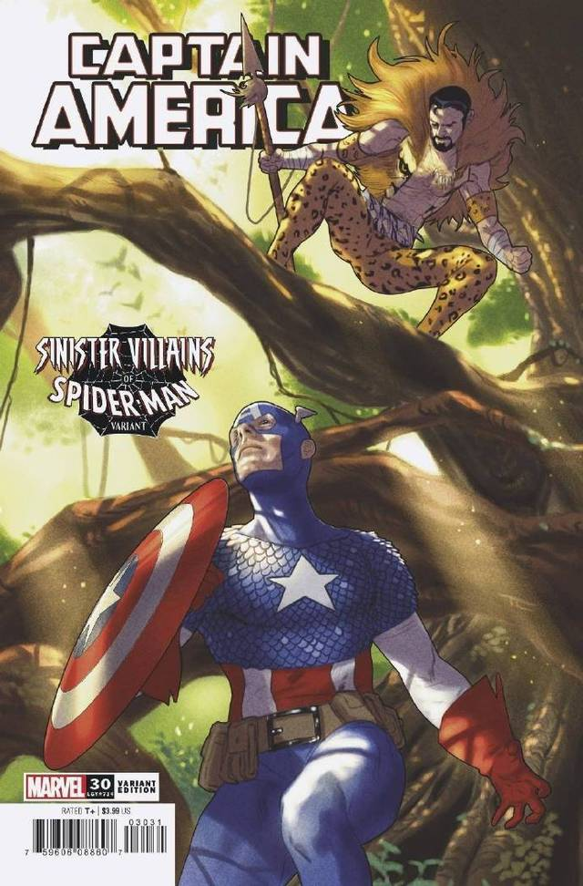 「美国队长」第30期「蜘蛛侠反派」变体封面公开