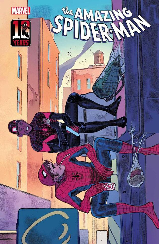 「蜘蛛侠 迈尔斯·莫拉莱斯」十周年纪念封面公开