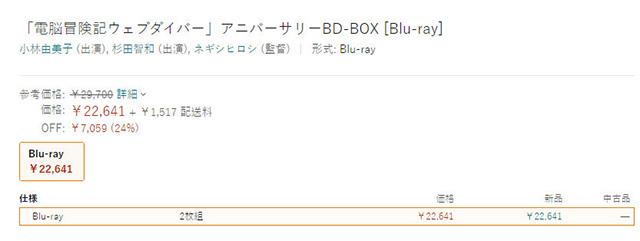 「电脑冒险记」放送20周年纪念blu-ray box 12月22日发售