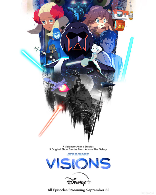 动画「星球大战:Visions」公开双版本主视觉图