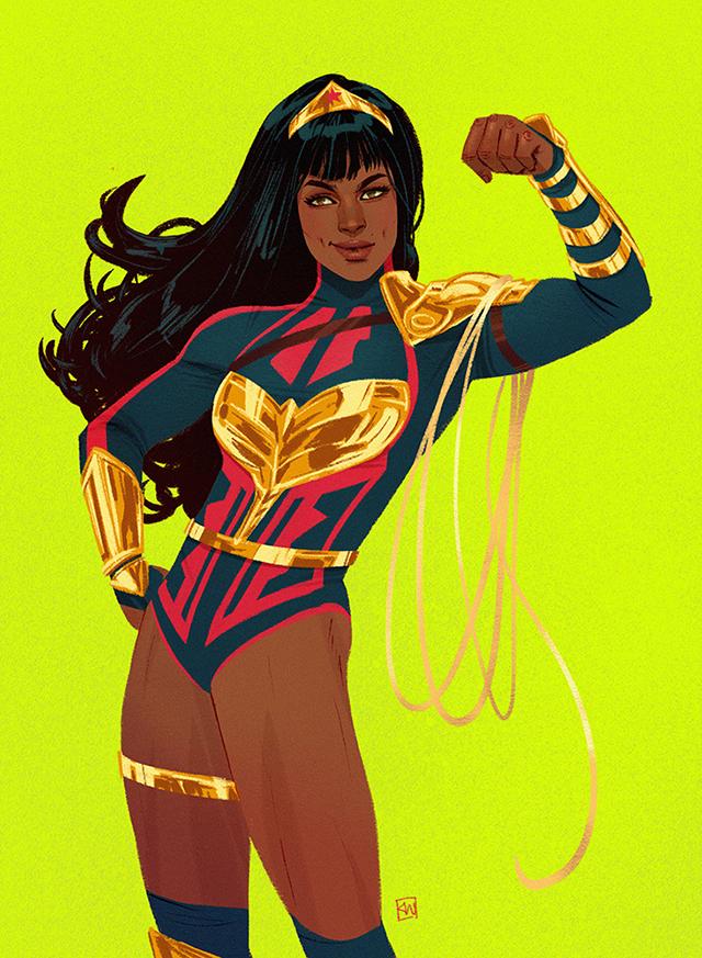 画师绘制「神奇女侠」与「神奇少女」全新造型公开