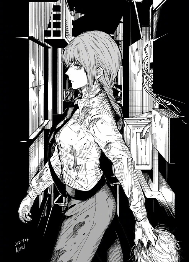「百鬼夜京」作者松本明澄绘制的「电锯人」插图公开